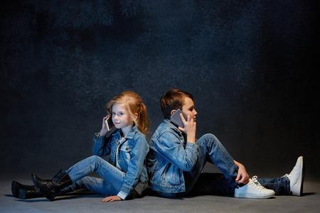 Group of Children Studio Concept Stock Photo