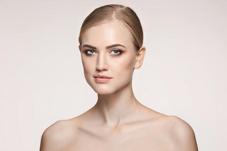 Beautiful Girl face. Perfect skin Reklamní fotografie