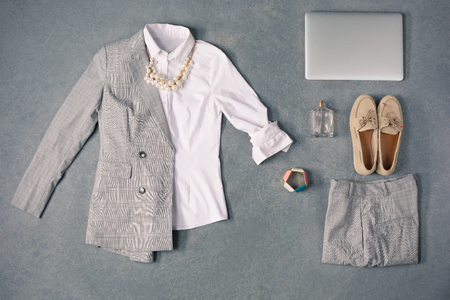 The collection of elegant clothes Stok Fotoğraf
