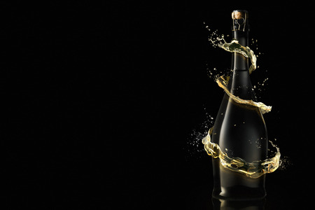 Nieuwjaarviering met champagne