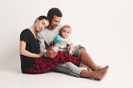 One happy family 版權商用圖片