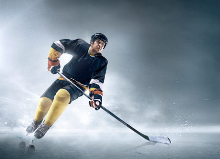 Ice hockey player in action. Stock Photo