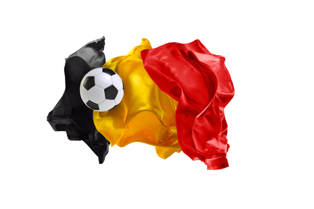 The national flag of Belgium.