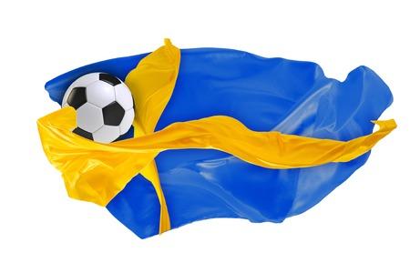 The national flag of Sweden.