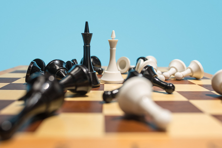 The chess board and game concept of business ideas and competition. Stok Fotoğraf