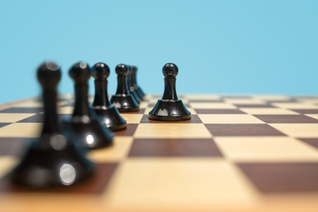 The chess board and game concept of business ideas and competition. 写真素材