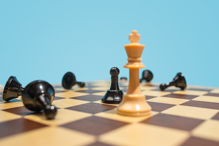 The chess board and game concept of business ideas and competition. Stock Photo