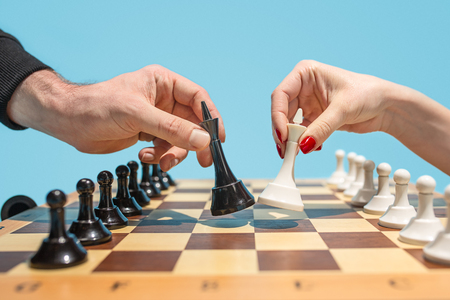 The chess board and game concept of business ideas and competition. 写真素材 - 98987033