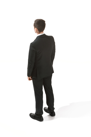 Back view of a businessman. Confident professional in suit