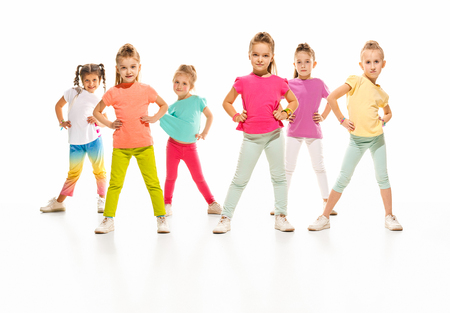 The kids dance school, ballet, hiphop, street, funky and modern dancers Zdjęcie Seryjne - 100591687