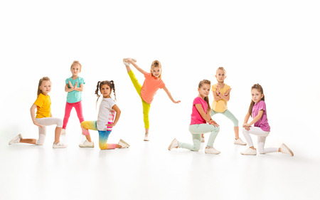 The kids dance school, ballet, hiphop, street, funky and modern dancers Banque d'images - 100591691