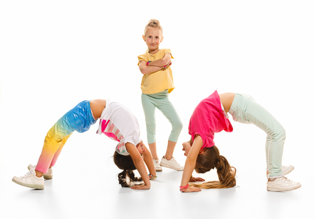 The kids dance school, ballet, hiphop, street, funky and modern dancers Banque d'images - 100591698