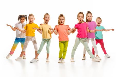 The kids dance school, ballet, hiphop, street, funky and modern dancers Banque d'images - 101104336