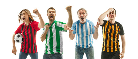 Collage about emotions of football fans