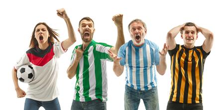 Collage sobre las emociones de los aficionados al fútbol