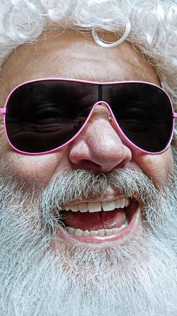 Portrait of happy smiling Santa Claus. Christmas celebration concept.