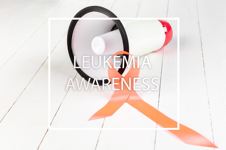 The orange Ribbons, Leukemia cancer awareness and Multiple sclerosis awareness, COPD awareness. The cancer, health, breast, awareness, campaign, disease, help, care, support hope illness survivor and healthcare concept Stock Photo - 116286087