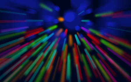 Neoned blue, green, red. Colorful holographic swirl, vortex prism. Speed laser motion. Pattern for background, wallpaper, advertising. Retro vaporwave style, distorted fractal fine art.