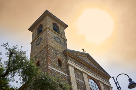 Exhaust of Chiesa Stella Maris - Church of Mary's Star - Tellaro Liguria Italy