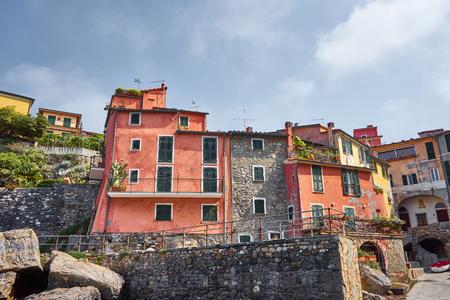 Colourful Typical Medieval Houses Of Tellaro - Liguria - Italy