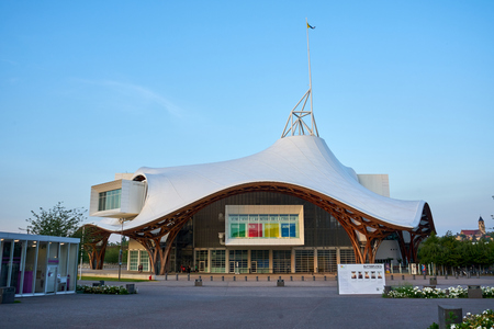 Metz/Grand-Est/France/June 2018 : Centre Pompidou-Metz, France. The building is a museum of modern and contemporary arts, a branch of Pompidou arts centre of Paris, build in 2010 Editorial