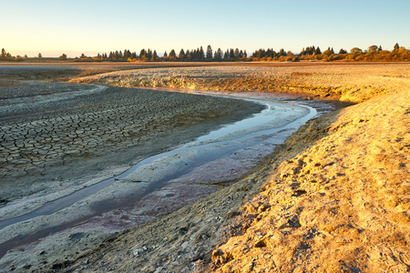 Meanders From A Feeding River To A Dried Out Lake - Bouverans - Doubs - France Stock Photo