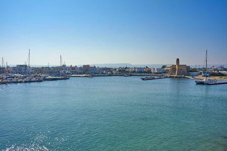 Villanova Castle And Harbour At Villanova A Mare Ostuni Puglia Italy During A Sunny Day