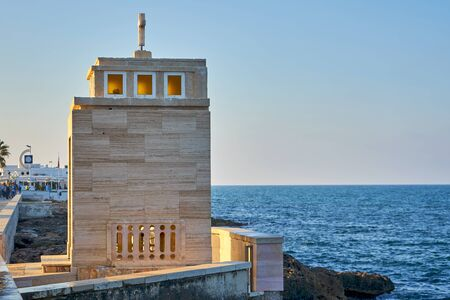 Votive Niche of the Sacred Heart of Jesus patron of Torre Canne At Torre Canne Puglia Italy.