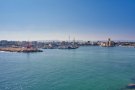 Villanova Castle And Harbour At Villanova A Mare Ostuni Puglia Italy During A Sunny Day