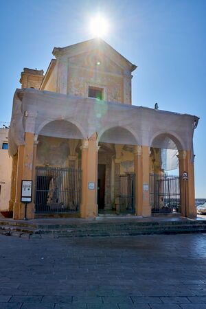Church of Saint Mary Del Canneto Gallipoli Puglia Italy During A Bright Autumn Day.