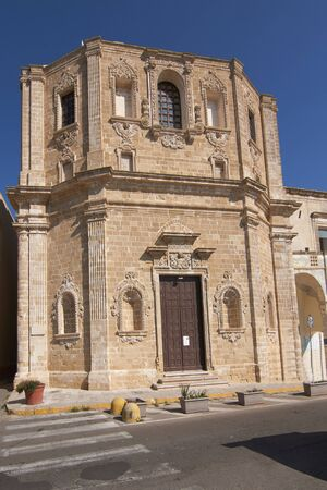 Chiesa Di Santa Maria Degli Angeli (Church Of Saint Marys Angel) a At Gallipoli Puglia Italy Фото со стока