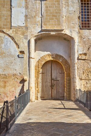 Entrance Gate Of Gallipoli Castle Puglia Italy In A Sunny Environment