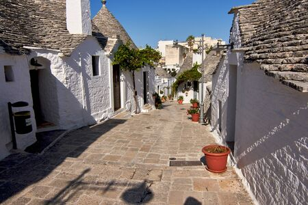 Picturesque Streets Of Alberobello With Trulli Houses Apulia Italy