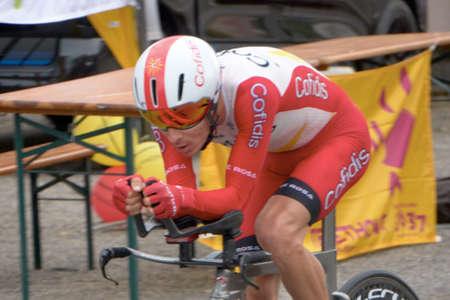 Saint Germain - Bourgogne Franche Comte - France - September 19, 2020 : Guillaume Martin - Team Cofidis places 11th overall after the last stage during the Tour de France 2020, cycling race stage 20, Lure - La Planche des Belles Filles (36 km Timetrial) Sajtókép