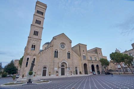 Basilica Di San Giuseppe - Saint Josephs Basilica shot during the blue hour in Bisceglie Apulia Italy