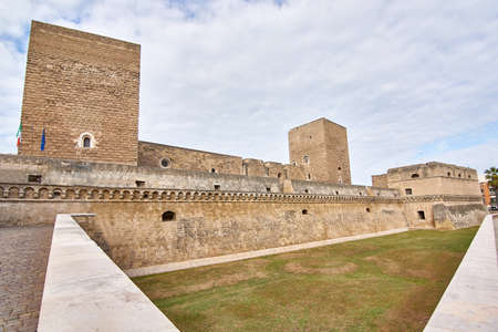 View At The Swabian Castle Also Known As Castello Svevo Built in 1132 And Located in Bari Apulia Italy Sajtókép