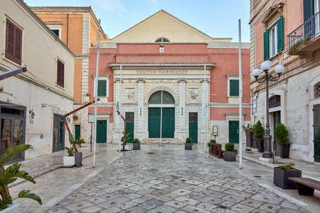 Front facade of the garibaldi theater in bisceglie apulia italy