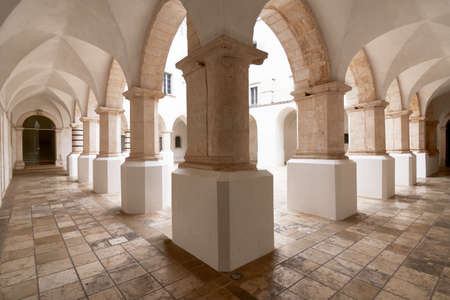 Beautiful view of a generic cloister in south Italy Apulia Puglia Stock fotó