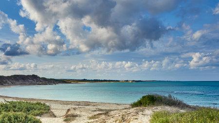 Torre Guaceto Beach Inside Torre Guaceto Marine Protected Area And Nature Reserve In Serranova Puglia Apulia Italy During a Bright Sunny day