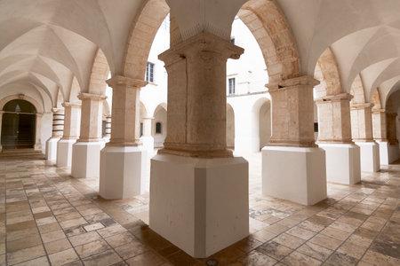 Beautiful view of a generic cloister in south Italy Apulia Puglia Sajtókép