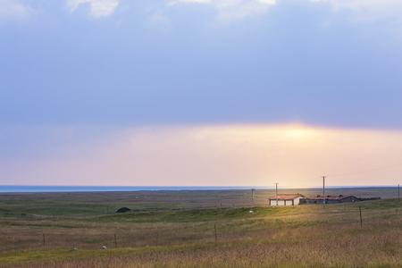 thatcher: Qinghai Lake Sunrise Stock Photo
