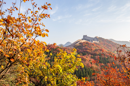 The great wall in autumn