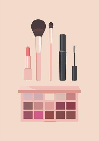 Cosmetics illustration pink simple icon