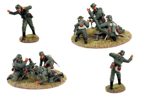 german soldier: war miniatures second world war , WWII , painted figures,german soldiers