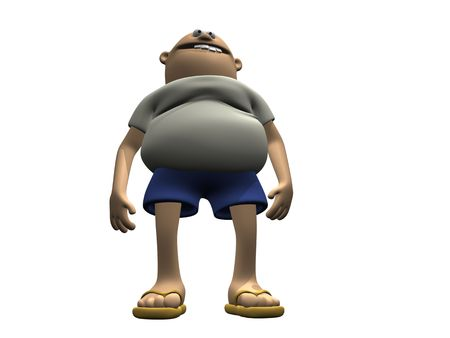 Cartoon Character Man With Belly 1 photo