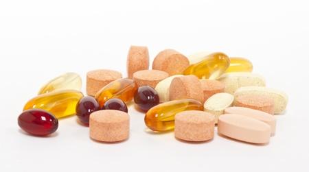 gel capsule: Supplements Stock Photo