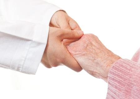 artritis: Manos de explotaci�n Senior del doctor