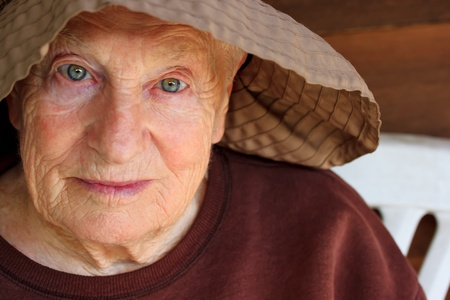 Portrait of senior woman in hat Stock Photo - 9774591