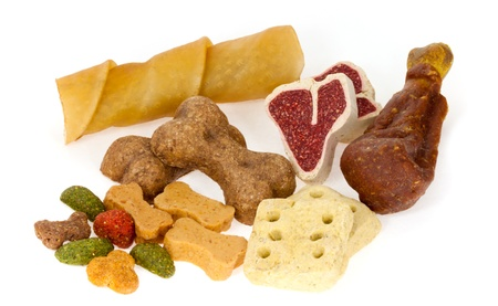 dog food: Assortment of dog treats