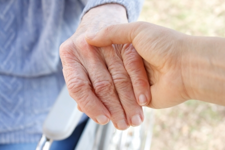 aging woman: Helping Hand Stock Photo